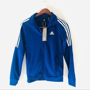 NWT Adidas Royal Blue Running Jacket - Size XS